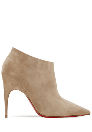 100mm Gorgona Suede Ankle Boots