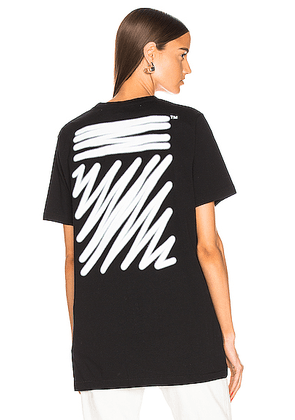 OFF-WHITE EXCLUSIVE Short Sleeve Tee in Black - Black. Size XL (also in XS).
