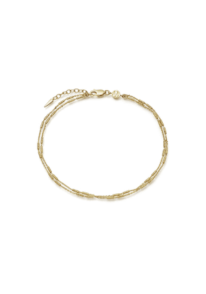 Gold Double Vervelle Chain Anklet