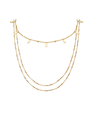 Gold Leaf & Vervelle Chain Necklace set