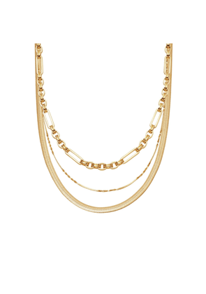 Gold Axiom & Snake Chain Necklace Set