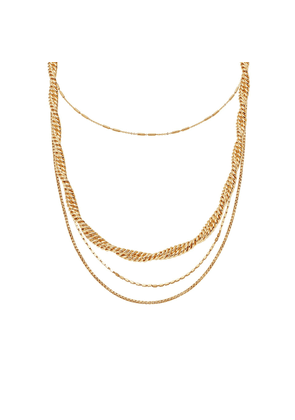 Gold Marina & Vervelle Chain Necklace Set