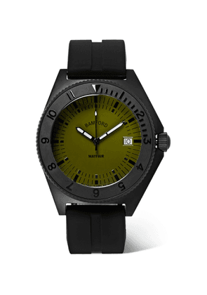 Bamford Watch Department - Mayfair Stainless Steel and Rubber Watch - Men - Green