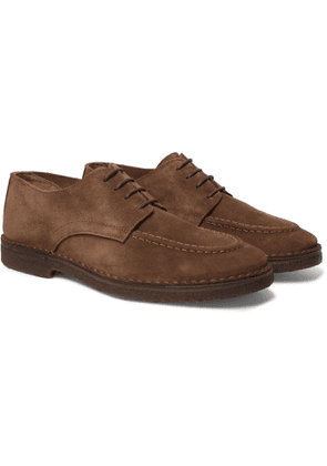 Drake's - Chard Moc Suede Derby Shoes - Brown