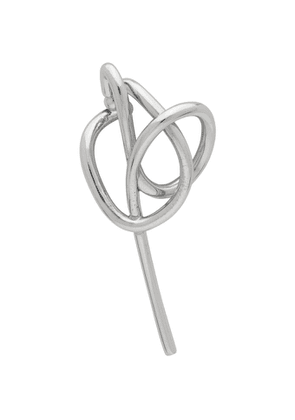 Alan Crocetti Silver Knot Single Left Ear Cuff