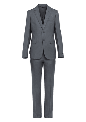 Prada wool and mohair single-breasted suit - Grey