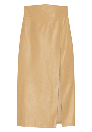 Gucci leather pencil skirt - Neutrals