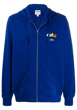 Lacoste x Friends With You embroidered hoodie - Blue