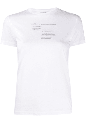 Enföld Laurel printed T-shirt - White