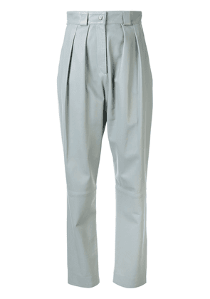 Faith Connexion leather tapered trousers - Blue