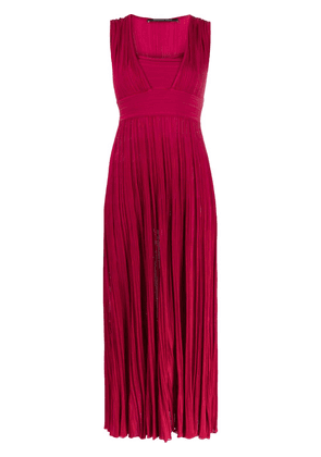 Antonino Valenti square-neck pleated dress - PINK