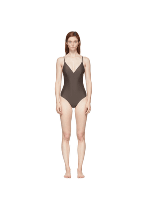 Matteau Brown The Plunge One-Piece Swimsuit