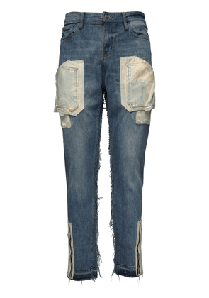 15cm Cargo Cotton Denim Jeans