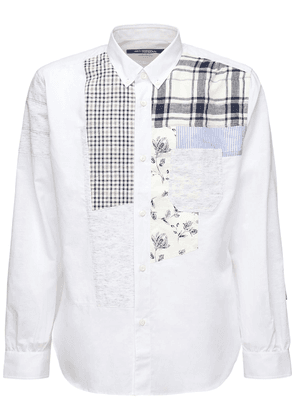 Patchwork Cotton & Linen Chambray Shirt