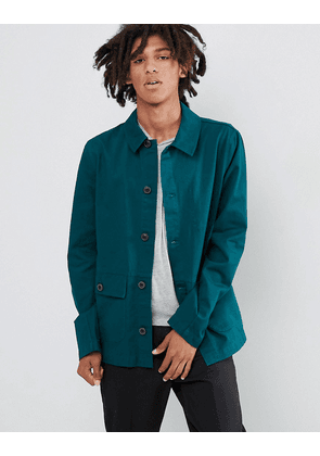 ASOS DESIGN worker jacket in bottle green