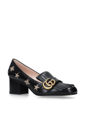Gucci Leather Marmont Embroidered Pumps 55