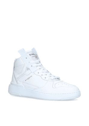 Givenchy Leather Wing High-Top Sneakers