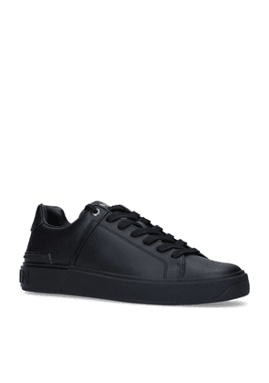 Balmain Leather B-Court Low-Top Sneakers