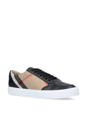 Burberry Leather House Check Panel Sneakers