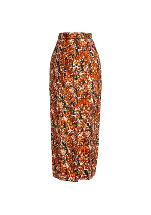 CAMILLA AND MARC Asterid Floral Midi Skirt