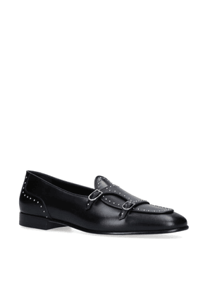Edhen Milano Leather Studded Brera Loafers
