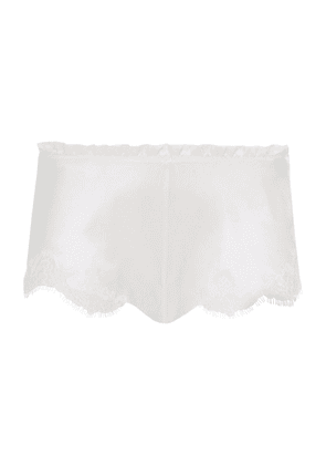 Carine Gilson Silk Lace Trim Shorts
