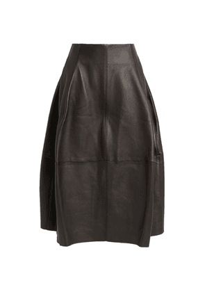 CAMILLA AND MARC Leather Wyatt Skirt