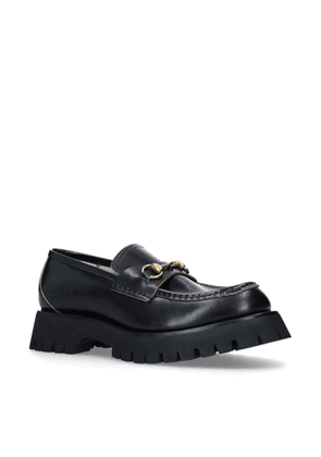 Gucci Leather Django Loafers