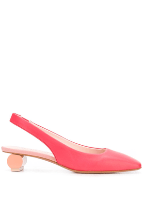 Anna Baiguera Ally square-toe slingback heels - PINK