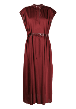 Sies Marjan contrast trim dress - Red