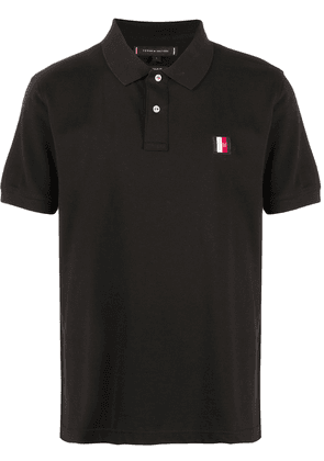 Tommy Hilfiger logo embroidered polo shirt   Blue