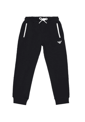 Stretch cotton trackpants