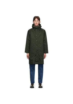Barbour Green Hooded Hunting Coat