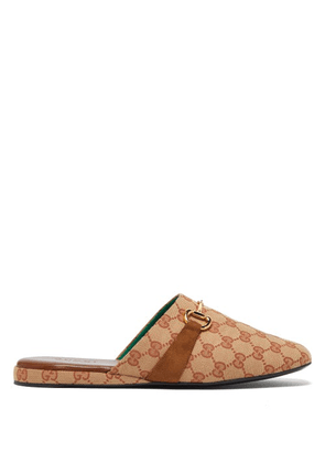 Gucci - Percile Horsebit Gg-jacquard Loafers - Mens - Beige
