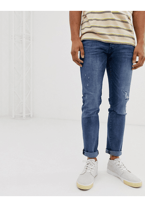 Jack & Jones Intelligence Glenn regular fit jeans in blue