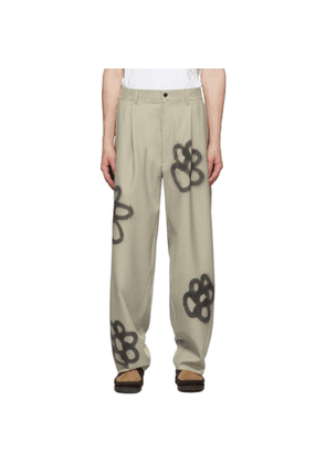 Camiel Fortgens SSENSE Exclusive Beige Sprayed Suit Trousers