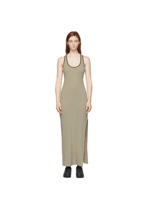 John Elliott Khaki Silk Rib Dress