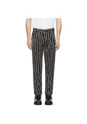 Charles Jeffrey Loverboy Black Woven Squiggle Trousers
