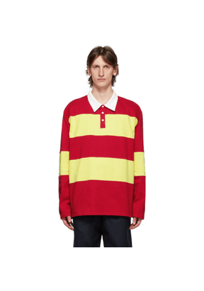 Camiel Fortgens Red and Yellow Striped Long Sleeve Polo