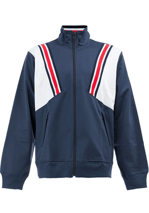 Facetasm stripe detailed windbreaker jacket - Blue