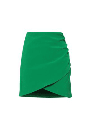 Alice + Olivia Wrap-effect Stretch-crepe Mini Skirt Woman Green Size 2