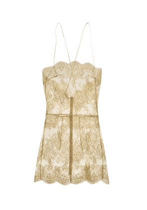Harlow Lace Slip Gold