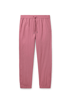Aimé Leon Dore - Tapered Logo-Embroidered Nylon Drawstring Trousers - Men - Pink