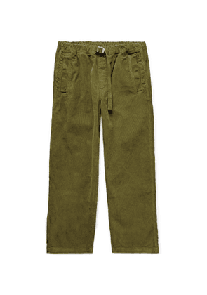 Albam - Tapered Garment-dyed Cotton-corduroy Trousers - Green