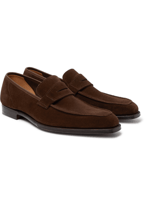 George Cleverley - George Suede Penny Loafers - Brown