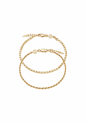 Gold Box & Catena Chain Bracelet Set