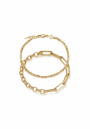 Gold Axiom & Isa Chain Bracelet Set
