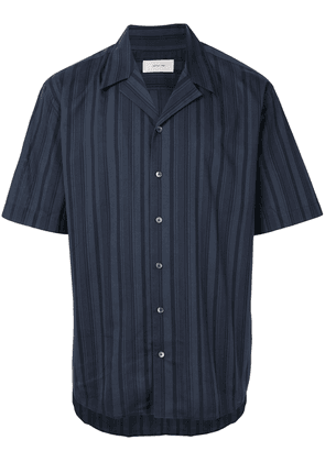 Cerruti 1881 short sleeved striped shirt - Blue