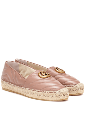 Double G leather espadrilles