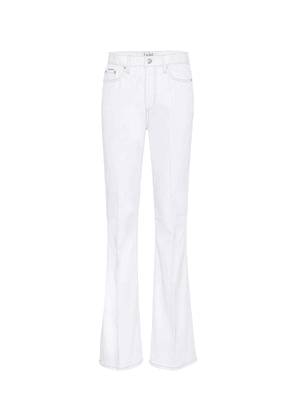 Oregon Twill high-rise flared jeans